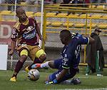 El estadio metropolitano de Techo, en Bogotá, fue testigo de la goleada que le propinó el Deportes Tolima a Jaguares de Córdoba por la fecha 20 del todos contra todos del Torneo Apertura 2015.