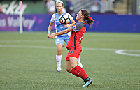 Portland, OR - Saturday August 19, 2017: Hayley Raso during a regular season National Women's Soccer League (NWSL) match between the Portland Thorns FC and the Houston Dash at Providence Park.