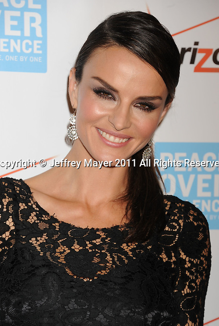 BEVERLY HILLS, CA - OCTOBER 28: Ana Alexander arrives at Peace Over Violence 40th Annual Humanitarian Awards dinner at Beverly Hills Hotel on October 28, 2011 in Beverly Hills, California.
