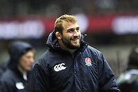 Joe Marler looks on from the sidelines. RBS Six Nations match between England and Italy on March 10, 2013 at Twickenham Stadium in London, England. Photo by: Patrick Khachfe / Onside Images