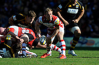 Nick Runciman of Gloucester Rugby during the Aviva Premiership match between London Wasps and Gloucester Rugby at Adams Park on Sunday 1st April 2012 (Photo by Rob Munro)