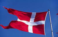 Daenemark, Kopenhagen, daenische Flagge (Danebro)