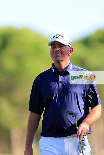 Thomas BJORN (DEN) during round 2 of the Turkish Airlines Open presented by the Ministry of Tourism and Culture, hosted at the The Montgomerie Maxx Royal,Antalya,Turkey.<br /> Picture: Fran Caffrey www.golffile.ie