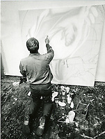 Rosenquist in his studio.