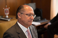 SAO PAULO, SP. 10 DE MAIO DE 2013. REUNIÃO PARA DISCUTIR MEDIDAS APOS ALTERAÇÃO DO ICMS. O governador de São Paulo, Geraldo Alckmin, durante reunião com empresários para discutir quais medidas e estratégias serão tomadas após a alteração do ICMS. FOTO ADRIANA SPACA/BRAZIL PHOTO PRESS