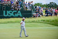 Chez Reavie (USA) after sinking his long putt on 6 during Sunday's round 4 of the 117th U.S. Open, at Erin Hills, Erin, Wisconsin. 6/18/2017.<br /> Picture: Golffile | Ken Murray<br /> <br /> <br /> All photo usage must carry mandatory copyright credit (&copy; Golffile | Ken Murray)