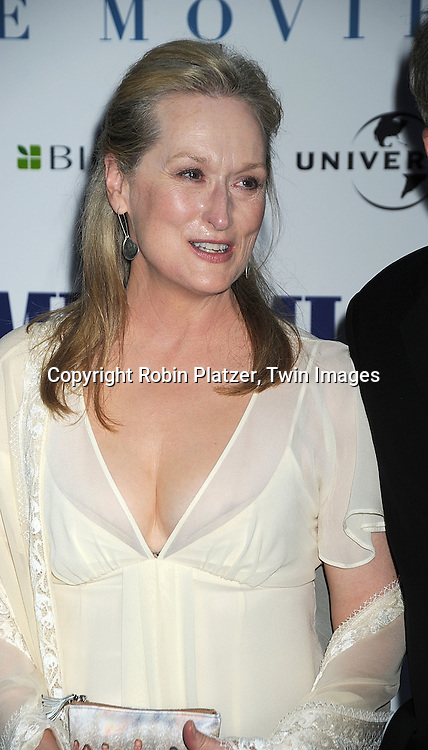 "Meryl Streep ..posing for photographers at The American Premiere of ""Mamma Mia! The Movie on July 16, 2008 at The ..Ziegfeld Theatre in New York City. ....Robin Platzer, Twin Images"