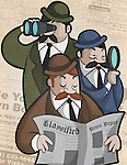 Three businessmen searching job
