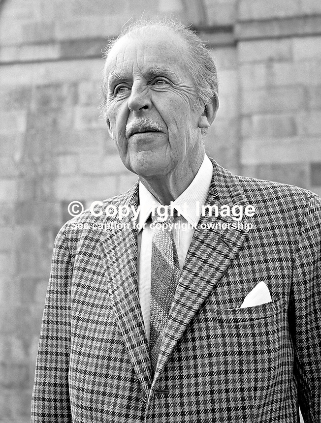 4th Duke of Abercorn, James Hamilton, Baronscourt, Newtownstewart, Co Tyrone, N Ireland, UK, chancellor, New University of Ulster, 197104000215b.<br />