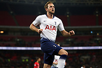 Harry Kane of Tottenham Hotspur celebrates scoring the first goal during Tottenham Hotspur vs Southampton, Premier League Football at Wembley Stadium on 5th December 2018