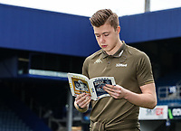 Leeds United's Bailey Peacock-Farrell reading his match programme before the match<br /> <br /> Photographer Andrew Kearns/CameraSport<br /> <br /> The Emirates FA Cup Third Round - Queens Park Rangers v Leeds United - Sunday 6th January 2019 - Loftus Road - London<br />  <br /> World Copyright &copy; 2019 CameraSport. All rights reserved. 43 Linden Ave. Countesthorpe. Leicester. England. LE8 5PG - Tel: +44 (0) 116 277 4147 - admin@camerasport.com - www.camerasport.com