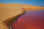 Namibia;  Namib Desert, Skeleton Coast, salt lagoon south of Walvis Bay