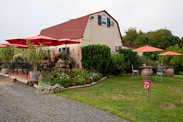The winery and tasting facility at Three Fox Vineyards.