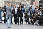 28/09/2017, Paris - Paris Fashion Week Women SS 2018 - Balmain.<br /> Elena Perminova poses outside the Balmain Fashion Show during the Paris Fashion Week in Paris, France on September the 28 of 2017.