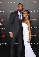 Will Smith &amp; wife Jada Pinkett Smith at the Los Angeles premiere of his movie &quot;Focus&quot; at the TCL Chinese Theatre, Hollywood.<br /> February 24, 2015  Los Angeles, CA<br /> Picture: Paul Smith / Featureflash