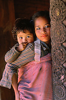 Sisters, Bhaktapur, Nepal.<br />