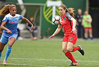 Portland, OR - Saturday April 29, 2017: Mallory Weber, Casey Short during a regular season National Women's Soccer League (NWSL) match between the Portland Thorns FC and the Chicago Red Stars at Providence Park.