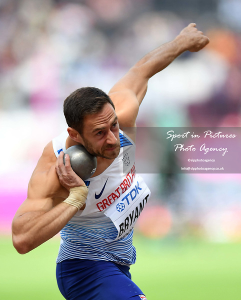 Ashley BRYANT (GBR) in the mens decathlon shot put. IAAF world athletics championships. London Olympic stadium. Queen Elizabeth Olympic park. Stratford. London. UK. 11/08/2017. ~ MANDATORY CREDIT Garry Bowden/SIPPA - NO UNAUTHORISED USE - +44 7837 394578
