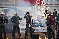 Jorge Valdiviezo during the American Bucking Bull, Incorporated event in Decatur, TX - 6.4.2016. Photo by Christopher Thompson