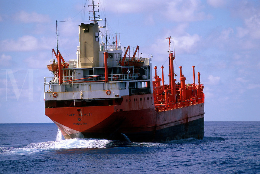 A liberian ship at sea.