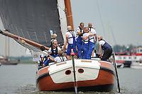 ZEILEN: SLEAT: Sleattemer Mar, 06-08-2014, IFKS Skûtsjesilen, Geale Tadema wint met het skûtsje van Eastermar, ©foto Martin de Jong