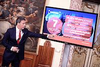 Roma, 28 Novembre 2016<br /> Matteo Renzi<br /> Conferenza stampa a Palazzo Chigi sulla legge di Bilancio 2017