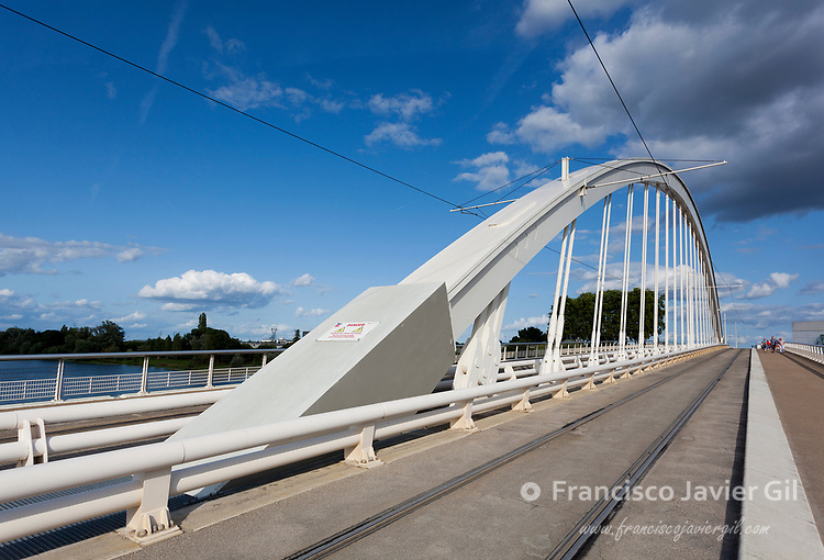 Confluences bridge, Angers, Maine-et-Loire, France