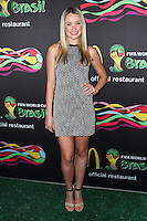 NEW YORK CITY, NY, USA - JUNE 05: Katrina Bowden at the 2014 FIFA World Cup McDonald's Launch Party held at Pillars 38 on June 5, 2014 in New York City, New York, United States. (Photo by Jeffery Duran/Celebrity Monitor)