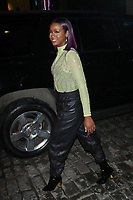 NEW YORK, NY - FEBRUARY 8:   Justine Skye  arrives at Jeremy Scott Fashion Show at New York Fashion Week at Spring Studios on February 8, 2018 in New York City. <br /> CAP/MPI99<br /> &copy;MPI99/Capital Pictures