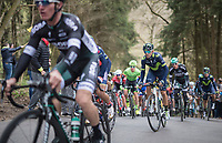 Alejandro Valverde (ESP/Movistar team) up the (new) C&ocirc;te de la Ferme Libert<br /> <br /> 103rd Li&egrave;ge-Bastogne-Li&egrave;ge 2017 (1.UWT)<br /> One Day Race: Li&egrave;ge &rsaquo; Ans (258km)