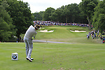 Ian Poulter (ENG) tees off on the par3 2nd tee during the Final Day of the BMW PGA Championship Championship at, Wentworth Club, Surrey, England, 29th May 2011. (Photo Eoin Clarke/Golffile 2011)