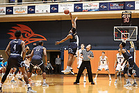 SAN ANTONIO, TX - FEBRUARY 28, 2019: The University of Texas at San Antonio Roadrunners fall to the Old Dominion University Monarchs 65-64 at the UTSA Convocation Center. (Photo by Jeff Huehn)