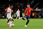 Spain's Sergio Ramos and England's Raheem Sterling during UEFA Nations League 2019 match between Spain and England at Benito Villamarin stadium in Sevilla, Spain. October 15, 2018. (ALTERPHOTOS/A. Perez Meca)