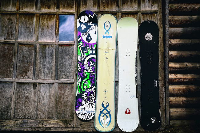 Snowboards in Jackson