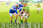 St Brendan's l-r: Padraig Kearney and Cian Hussey and Kilmoyley's Paudie O'Connor.