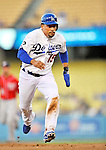 23 July 2011: Los Angeles Dodgers shortstop Rafael Furcal hustles to third during play against the Washington Nationals at Dodger Stadium in Los Angeles, California. The Dodgers rallied to defeat the Nationals 7-6 on Furcal's walk-off, RBI double in the bottom of the 9th inning. Mandatory Credit: Ed Wolfstein Photo