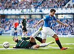 Rory McKeown tackles Richard Foster of Rangers