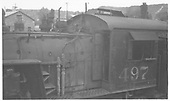 L-37 #497 left side detail of boiler in front of the cab.<br /> D&amp;RGW    5/1963