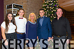 lesha .Horan Jordan Conway, Joan Sills, David Sills, Johnny Sills enjoying the Kerry Hurling Social at Fels Point Hotel on Saturday