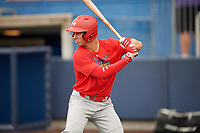 Drew Romo (8) during the Under Armour All-America Game Practice, powered by Baseball Factory, on July 21, 2019 at Les Miller Field in Chicago, Illinois.  Drew Romo attends The Woodlands High School in The Woodlands, Texas and is committed to LSU.  (Mike Janes/Four Seam Images)