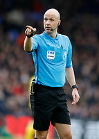 7th March 2020; Selhurst Park, London, England; English Premier League Football, Crystal Palace versus Watford; Referee Anthony Taylor