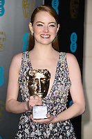 Emma Stone<br /> at the 2017 BAFTA Film Awards After-Party held at the Grosvenor House Hotel, London.<br /> <br /> <br /> &copy;Ash Knotek  D3226  12/02/2017