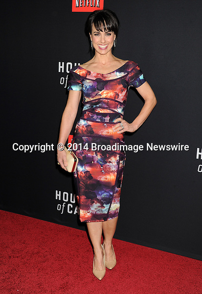 Pictured: Constance Zimmer<br /> Mandatory Credit &copy; Gilbert Flores/Broadimage<br /> Netflex's &quot;House of Cards&quot; Season 2 Special Screening<br /> <br /> 2/13/14, Hollywood, California, United States of America<br /> <br /> Broadimage Newswire<br /> Los Angeles 1+  (310) 301-1027<br /> New York      1+  (646) 827-9134<br /> sales@broadimage.com<br /> http://www.broadimage.com