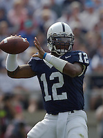 27 September 2003:   Michael Robinson, Penn State QB, throws a pass during the second quarter.  Robinson threw for 168 yrds and ran for 60 yrds and 1 TD while filling in for an injured Zack Mills.  Minnesota defeated Penn State 20-14  at Beaver Stadium in State College, PA....