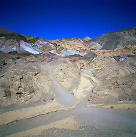 Death Valley National Park, California, CA, USA - Artist's Palette and Wash in the Black Mountains (Armagosa Range), along Artists Drive