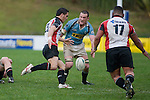 Chad Tuoro puts a chip kick in for Poaloi Taula to run onto. Air New Zealand Cup pre-season rugby game between the Counties Manukau Steelers & Northland, played at Growers Stadium on July 21st, 2007. Counties Manukau won 28 - 17.