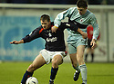 01/01/2005  Copyright Pic : James Stewart.File Name : jspa10_falkirk_v_raith-rovers.NEILL SCALLY AND CRAIG O'REILLY CHALLENGE FOR THE BALL....Payments to :.James Stewart Photo Agency 19 Carronlea Drive, Falkirk. FK2 8DN      Vat Reg No. 607 6932 25.Office     : +44 (0)1324 570906     .Mobile   : +44 (0)7721 416997.Fax         : +44 (0)1324 570906.E-mail  :  jim@jspa.co.uk.If you require further information then contact Jim Stewart on any of the numbers above.........