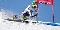 SOELDEN, AUSTRIA, 27.10.2013 - COPA DO MUNDO DE ESQUI ALPINO - Philip Schoerghofer da Austria  durante execução do Audi FIS Copa do Mundo de Esqui Alpino, corrida de slalom gigante em Soelden na Austria , neste domingo, 27. (Foto: Primoz Jeroncic / Pixathlon / Brazil Photo Press).