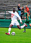 12 September 2010: Cornell University Big Red forward Franck Onambele (31), a Junior from Ajax, Ontario, in action against the University of Vermont Catamounts at Centennial Field in Burlington, Vermont. The Catamounts edged out the Big Red 2-1. Mandatory Credit: Ed Wolfstein Photo