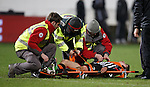 Dunfermline defender Ryan Williamson gets stretched off the park